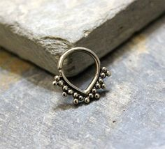 Antique Silver Ring Septum Ring, Earring, Cartilage Ring, Nipple ring, Helix, Rook, Bendable,16G Septum Jewelry, Piercing Jewelry by Purityjewel on Etsy