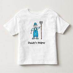 Farmer Farming Daddy's Helper Kids T-shirt