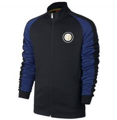 Inter Milan 16-17 Season Black Blue Soccer Jacket  I820  Football Jackets c93cb5b8d3f8c