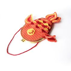 Lucky Goldfish Purse Crochet Pattern by irenestrange on Etsy, $5.00