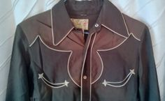 Vintage 1940's Circle A Western Shirt Sanforized with by gig20015, $173.00
