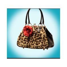 Lux De Ville Purses Vintage Inspired Faux Leopard Vintage Kisslock... ($75) via Polyvore