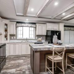 Cabin House Plans, House Floor Plans, Whitewash Cabinets, Modular Homes For Sale, Modular Home Floor Plans, Cabin Homes, Kitchen Design, Furniture, Mobile Homes