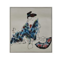 (12AA) A Chinese Painting of a Lady (Wang Xijing Mark) n\A Chinese Painting of a Lady (Wang Xijing Mark) 800X540mm / MAD on Collections - Browse and find over 10,000 categories of collectables from around the world - antiques, stamps, coins, memorabilia, art, bottles, jewellery, furniture, medals, toys and more at madoncollections.com. Free to view - Free to Register - Visit today. #DecorativeArts #Asian #MADonCollections #MADonC