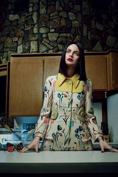 Guinevere Van Seenus wears Miu Miu by Emma Summerton for Vogue Italia, February 2014.