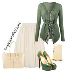 """""""Apostolic Fashions #804"""" by apostolicfashions on Polyvore featuring Ted Baker, Oui, Henri Bendel and Tod's"""