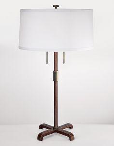 "Mason Table Lamp - fuselighting.com Height 27"" Base 9 1/2"" W x 9 1/2"" D x 19 1/2"" H Shade 15"" diameter x 7 1/2"" H"