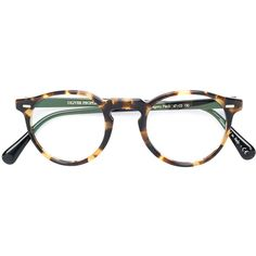 2d15ac5fd8c Oliver Peoples Gregory Peck round frame glasses ( 380) ❤ liked on Polyvore  featuring accessories