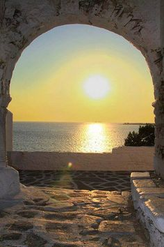 Sunset Portal, Paros, Greece