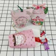 hot flamingo unicorn wedding candy boxes with ribbons favor candy box suppliesTS #Unbranded