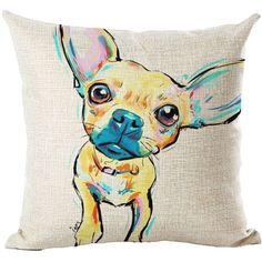 Colorful Dog Drawing Cushion Covers