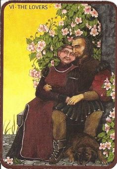 The Lovers from the Anna K. Tarot deck. The first time I saw this deck I knew it was the one I needed.  My fav thus far.