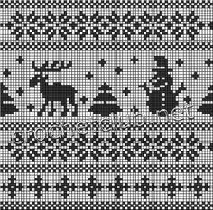ЖАККАРД. Обсуждение на LiveInternet - Российский Сервис Онлайн-Дневников Double Knitting Patterns, Christmas Knitting Patterns, Knitting Charts, Sweater Knitting Patterns, Knitting Stitches, Knitting Designs, Knitting Projects, Xmas Cross Stitch, Cross Stitch Borders