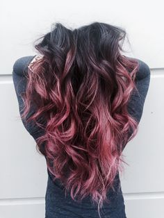 Beautiful Dusty Rose Pink Ombre Hair
