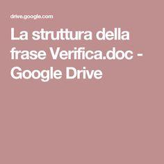 La struttura della frase Verifica.doc - Google Drive