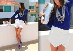 Zara Wrap Skirt, H&M Hologram Clutch