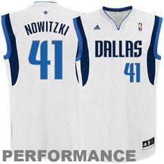 Dirk Nowitzki Dallas Mavericks adidas Replica Home Jersey - White - $69.99
