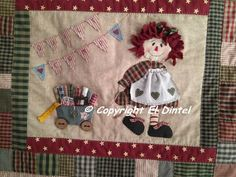 Stitch Patch, Raggedy Ann And Andy, Patch Quilt, Love Sewing, Country Girls, Diy And Crafts, Sewing Projects, Bag Holders, Patches