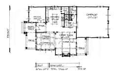 House Plan on the Drawing Board 1460 has is a narrow design with a rear-entry garage! #WeDesignDreams