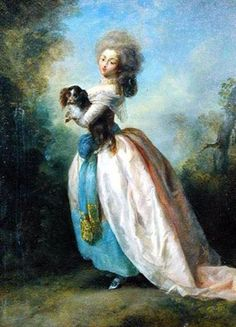 """"""" A Lady with a dog """" - Jean Frederic Schall"""