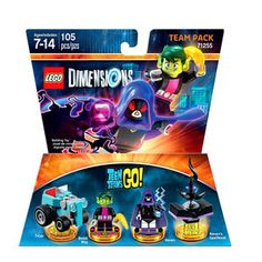 LEGO Dimensions Teen Titans Go! Team Pack - T-Car, Beast Boy, Raven and Raven's Spellbook