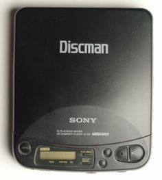 Sony Discman cd player, this is a picture of the exact first CD player I ever had.