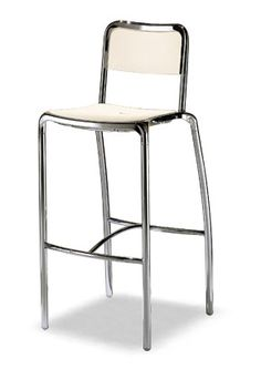 """Alu Bar Stool"""" With die-casted aluminum frame, back and seat in polypropylene which makes it light, also suitable for outdoor use. Stackable version is counter height stool. Please contact us for pricing Restaurant Bar Stools, Restaurant Furniture, Bar Furniture, Upholstered Bar Stools, Swivel Bar Stools, Metal Bar Stools, Counter Height Stools, Stainless Steel Tubing, Brushed Stainless Steel"""