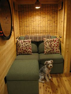 Seating option in a tiny house