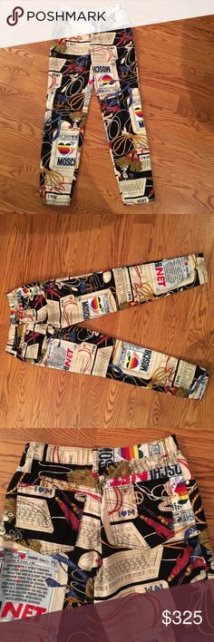 Moschino colorful pants Super cute Moschino Pants
