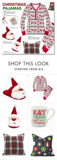 """Christmas Pajamas"" by kellylynne68 ❤ liked on Polyvore featuring Christmas, sleepover, pajamas, pjs and christmaspajamas"