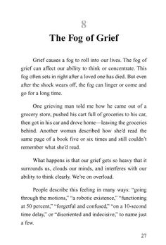 This is from the 1st of four booklets by Kenneth C. Haugk (Journeying Through Grief).