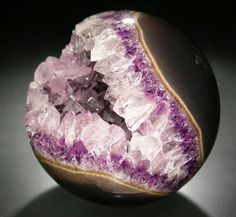 Quartz and Amethyst Sphere - Brazil (or possibly one of Stephen King's langoliers…not sure)