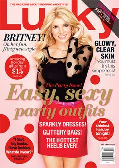Britney Spears, Lucky Magazine December 2012