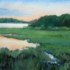 Kim Morin Weineck's Art :: original pastel  :: Marsh Sunset Color