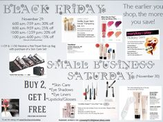 Black Friday and Small Business Saturday Mary Kay Sale!