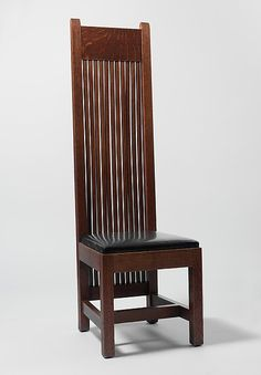 Side Chair  Maker: Frank Lloyd Wright (American, Richland Center, Wisconsin 1867–1959 Phoenix, Arizona) Date: 1901–2 Geography: Made in Illinois, United States
