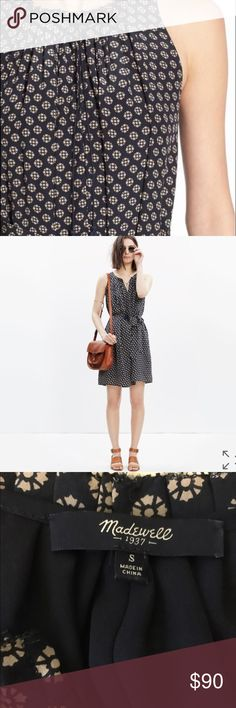 """Madewell silk dress in """"coin tile"""" In like-new condition. Madewell Dresses"""