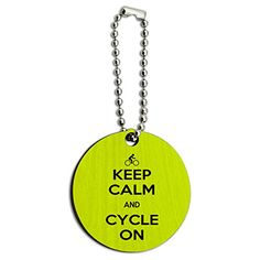 Keep Calm And Cycle On Biking Wood Wooden Round Key Chain - http://www.cwebmarket.com/women/women-accessories/keyrings-keychains/keep-calm-and-cycle-on-biking-wood-wooden-round-key-chain/