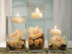Tischdeko-mit den Kerzen