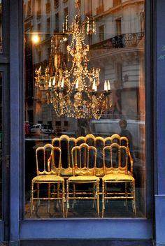 Paris antiques store window
