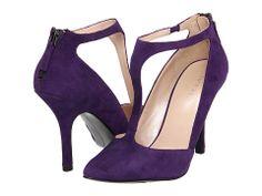 Nine West Blonsky T-strap Heels in Blue-Green Suede Purple Suede, Green Suede, Teal, Purple Haze, Deep Purple, T Strap Heels, Wrap Heels, Round Cut Diamond, Grey Leather