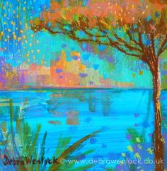 View of Antibes painting in acrylic by Debra Wenlock