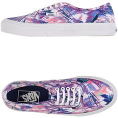 Vans Sneakers ($109) ❤ liked on Polyvore featuring shoes, sneakers, vans, purple, multicolor sneakers, multi color shoes, flat shoes, vans footwear and colorful sneakers