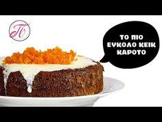 Εύκολο κεικ καρότου   Όλα τα μυστικά για να βγαίνει πάντα αφράτο... - YouTube Tiramisu, Cheesecake, Ethnic Recipes, Desserts, Youtube, Food, Tailgate Desserts, Deserts, Cheesecakes