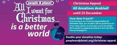 http://peopleandplanet.org/christmas-appeal