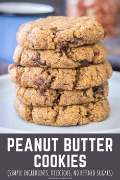 These Peanut Butter Coconut Flour Cookies are perfect treat. Made with healthy ingredients, sweet & chewy, totally guilt-free! Without refined sugars! ----- #cookies #cookierecipe #coconutflour #peanutbutter #darkchocolate #chocolate #healthy #easyrecipe #recipe #glutenfree