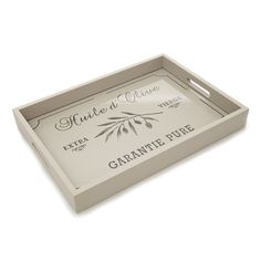 Pretty wooden tray with provencal design