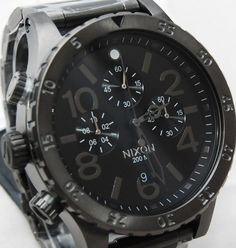 New Nixon Watch 48-20 Chrono All Gunmetal Men's A486632 A486-632 100% Authentic #Nixon #Fashion