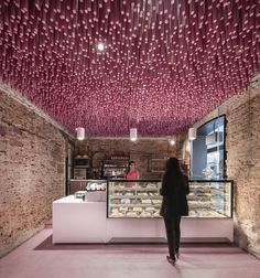 Galeria de 12000 palitos pintados de magenta / Ideo arquitectura - 1