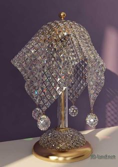 Crystal Table Lamp Italian factory VOLTOLINA